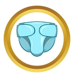 Diaper icon cartoon style vector