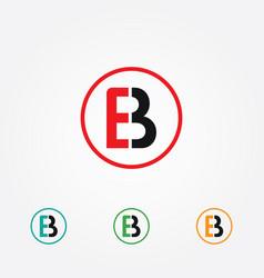 E and b logo vector