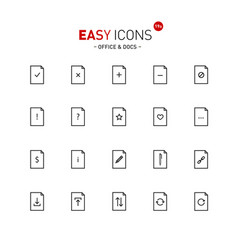 Easy icons 19a docs vector