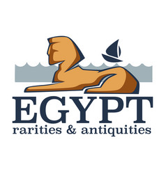 Egypt rarities and antiquities remains sphinx vector