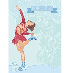 figure ice skater vector image vector image