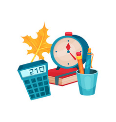 flat objects related to education theme vector image