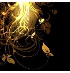 floral frame eps10 vector image