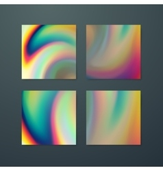 Fluid iridescent multicolored background vector