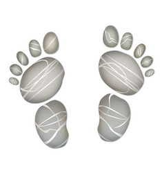 Foot step pebble stone summer holiday beach vector