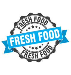 Fresh food stamp sign seal vector