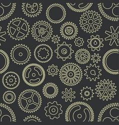 gear cogwheels dark background seamless vector image
