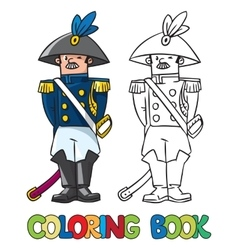 General or officer Coloring book vector image