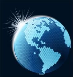 Global cellular network theme vector