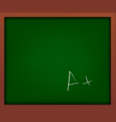 green school chalkboard with frame with a vector image vector image