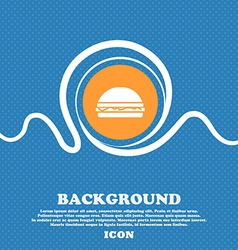Hamburger icon sign Blue and white abstract vector image