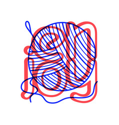 hand draw knitting icon in doodle style for your vector image