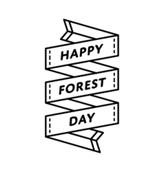 Happy Forest day greeting emblem vector image