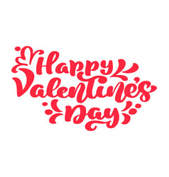 happy valentines day typography poster with vector image