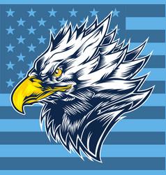 head eagle usa logo mscot usa vector image