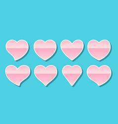 heart pink sticker valentine card icon love label vector image
