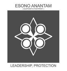 Icon with african adinkra symbol esono anantam vector