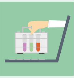 laboratory research online consultations vector image