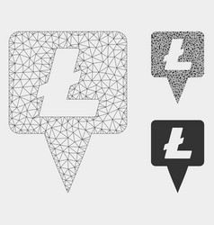 Litecoin map pointer mesh network model and vector