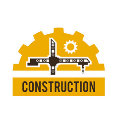 Logo construction crane special machinery and vector