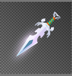 Magic dagger isolated game element vector