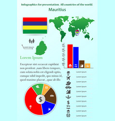 mauritius infographics for presentation all vector image