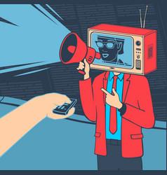Media propaganda concept vector