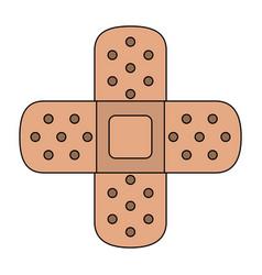medical bandages crossed symbol vector image