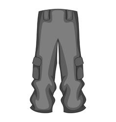 Men sport pants icon gray monochrome style vector image