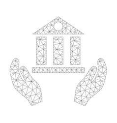 mesh bank service icon vector image