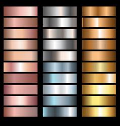 metals gradients vector image