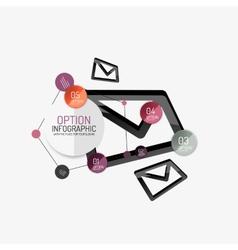 Minimal line design office web infographics vector image