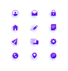 Modern web icons pack base set icons for site vector