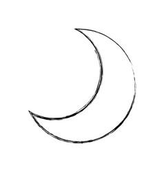 Moon quarter waning cartoon vector