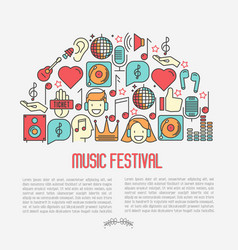 music festival concept in half circle vector image