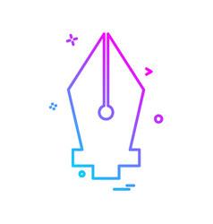 Nib icon design vector