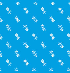 Ninja stars pattern seamless blue vector