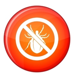 No bug sign icon flat style vector