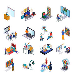 Online library set vector