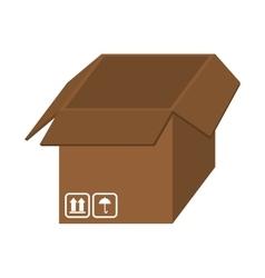 open box cardboar vector image
