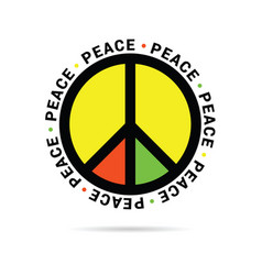 Peace symbol element vector