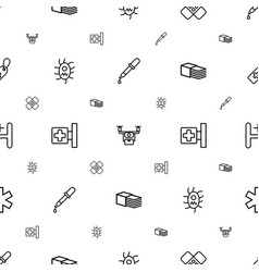 Pharmacy icons pattern seamless white background vector