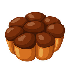 Pie icon homemade pastry round baked dessert vector