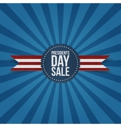 Presidents Day Sale Label with Ribbon vector image
