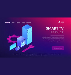 Repair of household appliances concept isometric vector