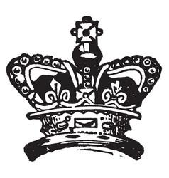 Royal crown vintage engraving vector
