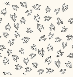 seamless paper fox origami pattern background vector image