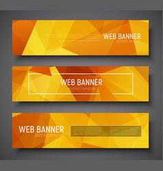 Set web banner standard size template vector