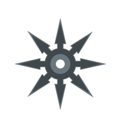 Shuriken flat icon vector