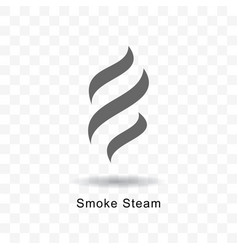 Smoke steam icon vector